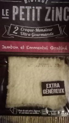 Croque monsieur jambon emmental
