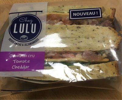 Sandwich jambon cru tomate cheddarp