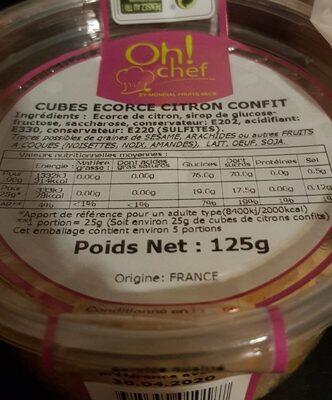 Cube écorce citron confit