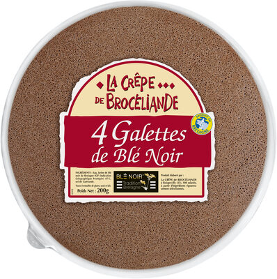 4 Galettes de Blé Noir Tradition Bretagne en barquette