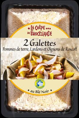 2 Galettes aux Pommes de Terre, Lardons et Oignons de Roscoff