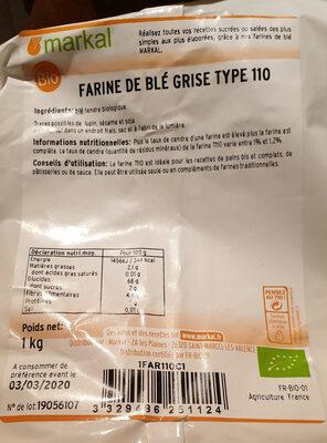 FARINE DE BLE GRISE T110