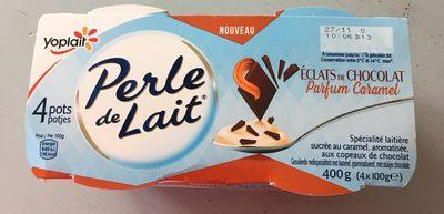 Perle de lait éclats de chocolat parfum caramel