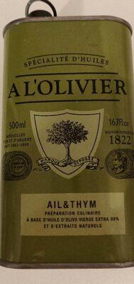 Huile d'olives, Ail et Thym