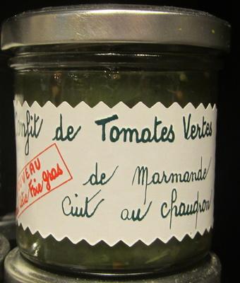 Confit de tomates vertes de marmande cuit au chaudron
