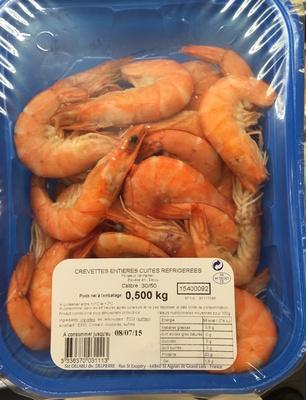 Crevettes entières cuites réfrigérées