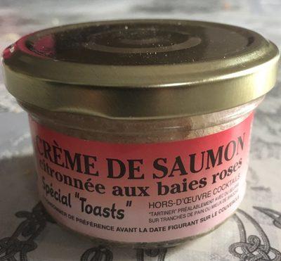 Crème de saumon  citronnées aux baies roses