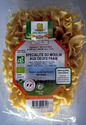 Pâtes Spécialité du Moulin aux oeufs frais