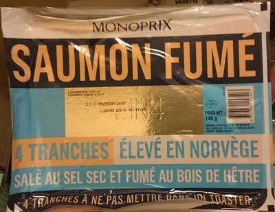 Saumon fumé élevé en Norvège