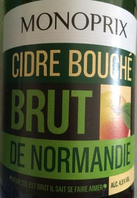 Cidre bouché brut de Normandie
