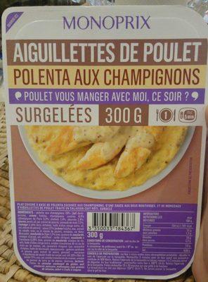 Aiguillettes de poulet Polenta aux champignons
