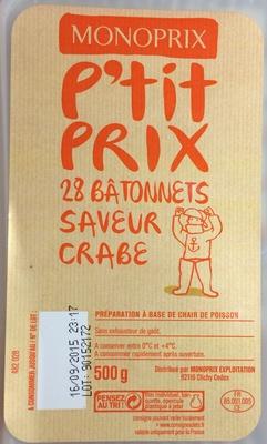 28 Bâtonnets Saveur Crabe