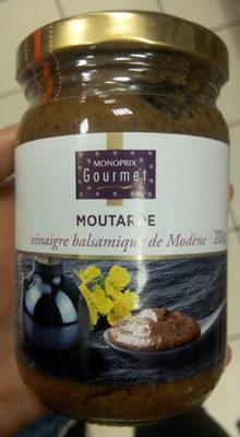 Moutarde vinaigre balsamique de Modène