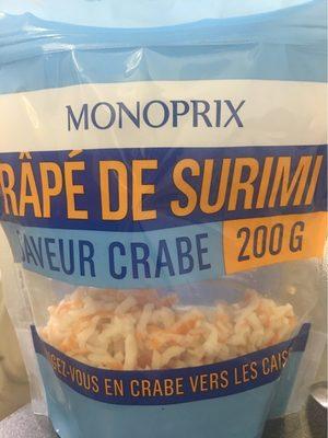 Râpé de surimi saveur Crabe
