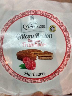 Gâteau breton fourrage framboise