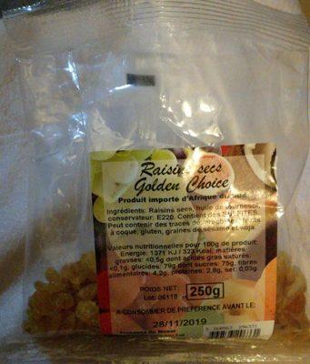 Raisins sec golden choice