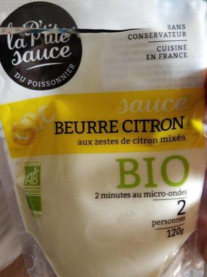Beurre citron aux zestes de citron mixés