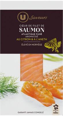 Coeur de filet de saumon fumé d'Atlantique aromatisé citron et aneth