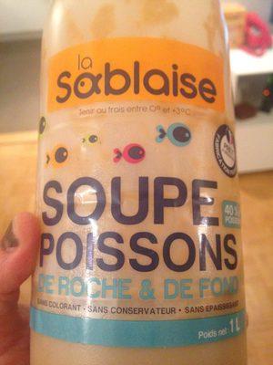 La Sablaise, Soupe de poissons fraiche, la bouteille de