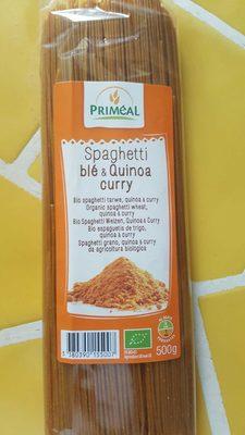 Spaghetti blé quinoa curry