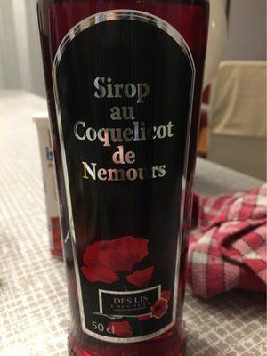Sirop au coquelicot de Nemours