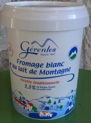 Fromage blanc au lait de Montagne (3,3% MG)