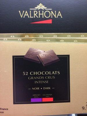 52 chocolats grands crus intense
