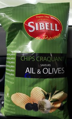 Chips craquantes saveur Ail&olives