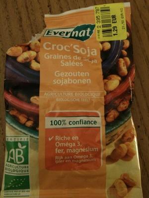 Croc'soja - graines de soja salées