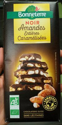 Chocolat Noir Amandes Entières Caramélisées
