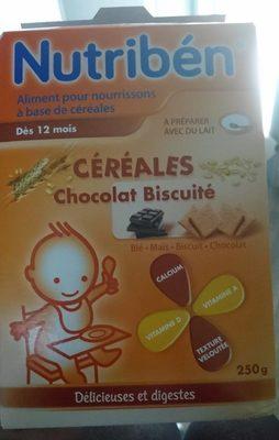 NUTRIBEN CEREALES CHOCOLAT BISCUITE 12MOIS