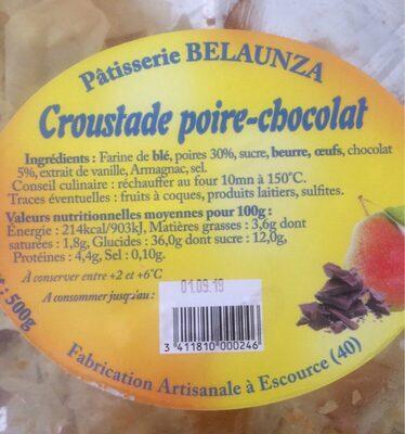 Croustade poire chocolat