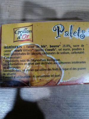 Palets Pur Beurre 115G Grillon Ab Bio