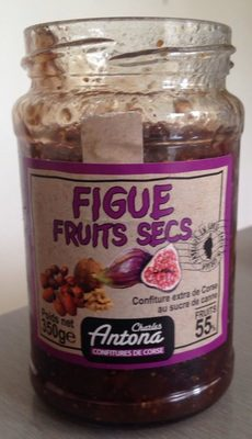 Confiture figue fruits secs