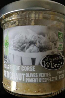 Tapas bio Corse artichaut olive piment