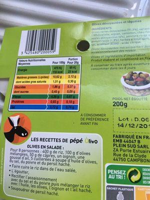 Olives melange a l'Andalouse