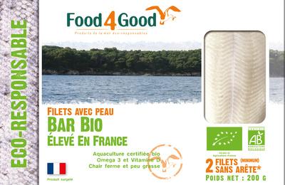 Filets sans peau de Bar BIO élevé en France