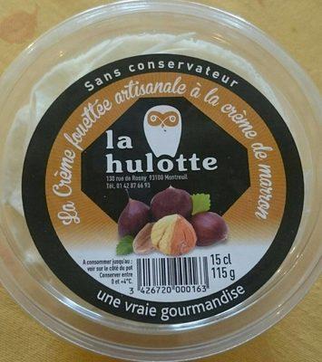 Crème fouettée artisanale à la crème de marrons LA HULOTTE 15cl