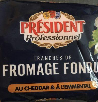 Tranches de Fromage Fondu au Cheddar et à l'Emmental