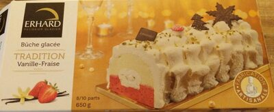 Bûche glacée Tradition Vanille-Fraise