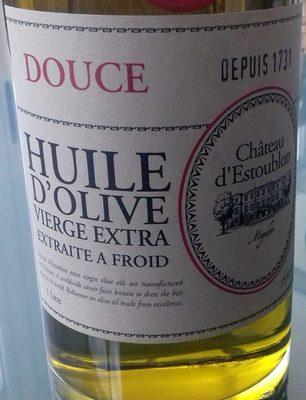 Douce Huile d'olive vierge extra extraite à froid