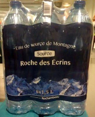 Eau de source de Montagne Source Roche des Ecrins