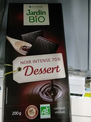 Chocolat noir intense 70% pâtissier