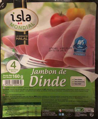 Jambon de Dinde (4 tranches)
