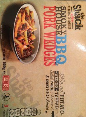 Smoky house BBQ pork wedges