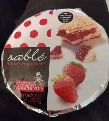 Sablé fourré aux fraises