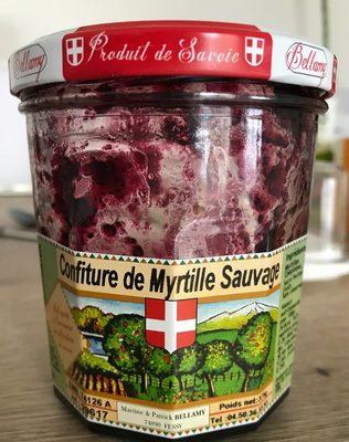 Confiture de myrtilles sauvages