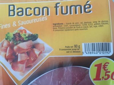 Gourmets de l'Artois Bacon fumé la barquette de 90 g