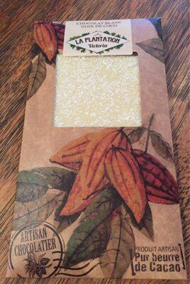 Chocolat blanc noix de coco  la plantation victoria