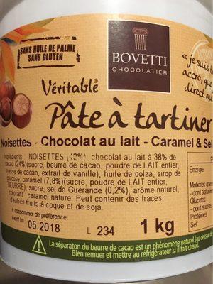 Pate à tartiner noisette chocolat au lait caramel et sel de guerande